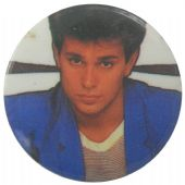 Duran Duran - 'Roger Taylor Blue' Button Badge